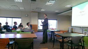 Photo of Gleb teaching