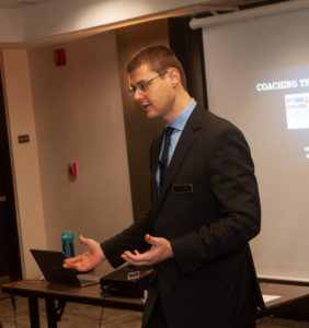 Photo of Dr. Gleb Tsipursky speaking