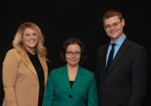Photo of DAE Leadership Team: Alissa Taglione, Agnes Vishnevkin, and Dr. Gleb Tsipursky