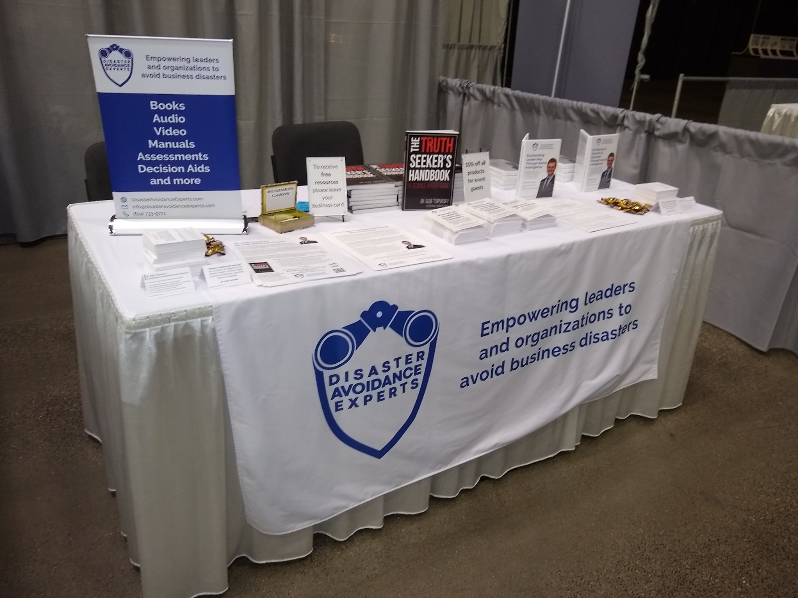 photo of table displaying DAE products