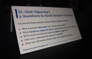 "How to make decisions quickly decision aid: ""5 Key Questions"""