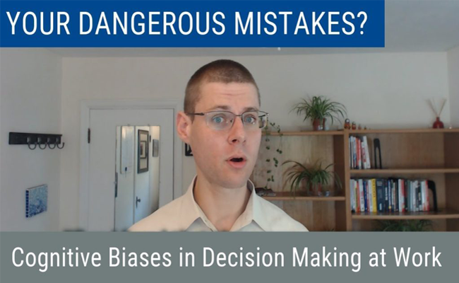 "Image cover for the ""Wise Decision Maker Show"" episode on ""Your Dangerous Mistakes? Cognitive Bias in Decision Making at Work"""